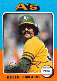 1975 Topps Mini #21 Rollie Fingers NRMT