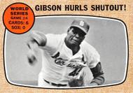 1968 Topps #154 Gibson Hurls Shutout EX