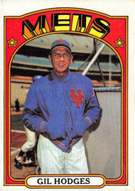 1972 Topps #465 Gil Hodges VGEX (72T465VGEX)