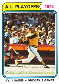 1974 Topps #470 AL Playoffs 1973 EX (74T470EX)