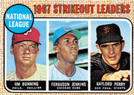 1968 Topps #11 NL 1967 SO Leaders VG Bunning, Jenkins, G. Perry. (68T11VG)