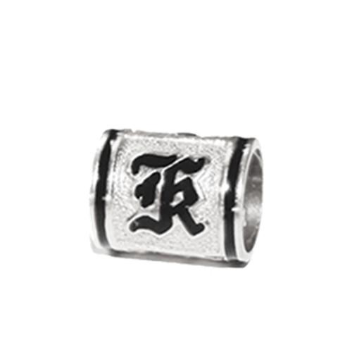 Sterling Silver Hawaiian Initial Bead