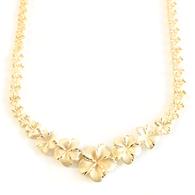 14K Plumeria Necklace - Icicle
