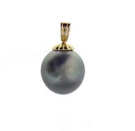 14K Tahitian Pearl Pendant - Small