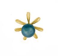 14K Tahitian Pearl Pendant - Tiare Small