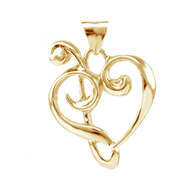 Kupaoa Signature Heart Pendant - Lg