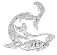 Sterling Silver Hawaiian Pendant - Kuualoha Shark