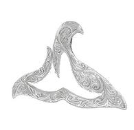 Sterling Silver Hawaiian Pendant - Kuualoha Whale Tail