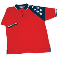MEN'S RED FREEDOM PIQUE POLO
