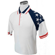 MEN'S WHITE FREEDOM PIQUE POLO