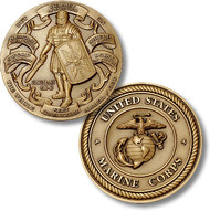 Armor of God High Relief - Marine Corps Coin