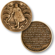 Armor of God High Relief Coin - Ephesians 6:10-12: