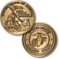 Marines - Iwo Jima Bronze Antique Coin