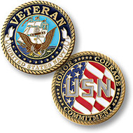 Navy Veteran - Enamel Coin