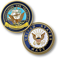 Navy Retired - Enamel Coin