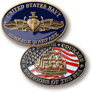 Navy Surface Warfare Coin