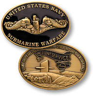 Navy Submarine Warfare Coin