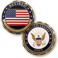 Retired - U.S. Navy Coin