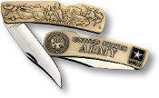 Army Lockback Knife - Small Bronze Antique