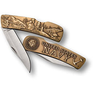 Navy Lockback Knife - Small Bronze Antique