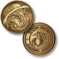 Bulldog - USMC Bronze Antique