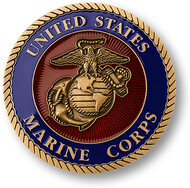 "Marine Corps Adhesive Medallion 1 3/4"""