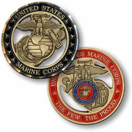 Marine Corps Cut Out Coin