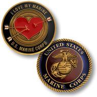 I Love My Marine Challenge Coin