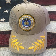 U.S. AIR FORCE Military Hat Official TAN CAP Velcro