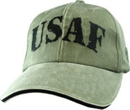 U.S. AIR FORCE Letters USAF Military Hat Official OD GREEN