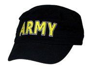U.S. ARMY Military Hat Official ARMY LETTERS, Black
