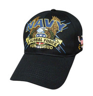 U. S. Navy Official Hat Logo & Letters SLOGAN