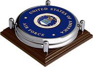Air Force Seal Chrome 2 Coaster Set