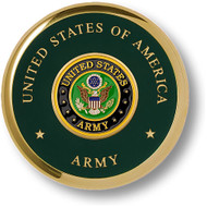 Army Seal Brass Coaster