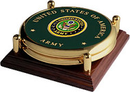 Army Seal Brass 2 Coaster Set