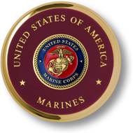 Marine Corps Seal Brass Coaster