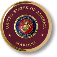 Marine Corps Seal Brass Coaster