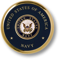 Navy Seal Brass Coaster