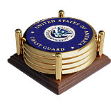 Coast Guard Homeland Security 4 Coaster Set