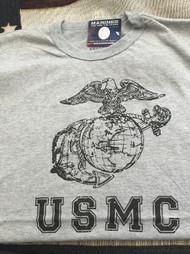 U. S. MARINE CORPS EAGLE, GLOBE & ANCHOR USMC LETTERS TSHIRT
