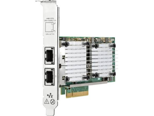 HPE 656596-B21 530T 10Gb Dual Port PCI Express 2.0 X8 Plug-in card Low profile Gigabit Wired Ethernet Network Adapter for Proliant Generation 8 to Generation 10 Server