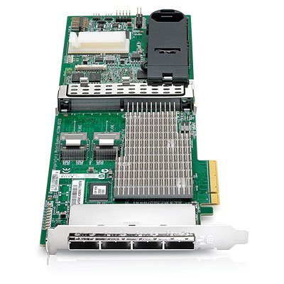 HPE 487204-B21 1GB Dual Internal Ports / Quad External Ports PCI Express -2.0 x8 SAS-6Gbps / SATA-3Gbps Flash Backed Write Cache Smart Array RAID Storage Controller for Proliant Server