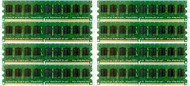 HP 495605-B21 64GB ( 8x8GB ) Dual Rank 667MHz ECC Registered CL-5 PC2-5300 240Pin DDR2 SDRAM Memory for Proliant Server