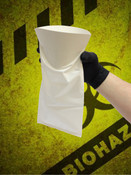 Convenience Bag for Vomit / Urine Containment - White