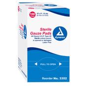Sterile Gauze Pads - 2'' x 2'' - 100 per Box