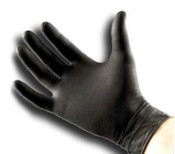 Microflex Midknight Black Nitrile Gloves - 100/Bx
