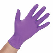 True Advantage Purple Nitrile Gloves - 100/Bx