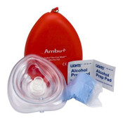 Pocket CPR Mask with One-Way Valve and O2 Inlet