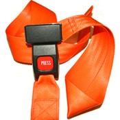 "Biothane G2 ""Wipe-Clean"" Stretcher Strap 5 foot 2 piece with Metal Buckle"