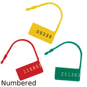 Security Control Locks (Seals) with Numbers - 100/Pack